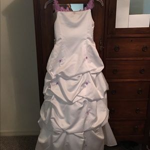 Girls elegant David's Bridal gown size 10